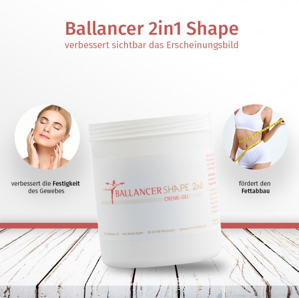 Ballancer® 2in1 Shape CremeGel 500 ml Kabinettware Dose